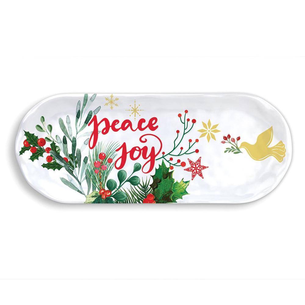 Joy To The World Melamine Serveware Accent Tray