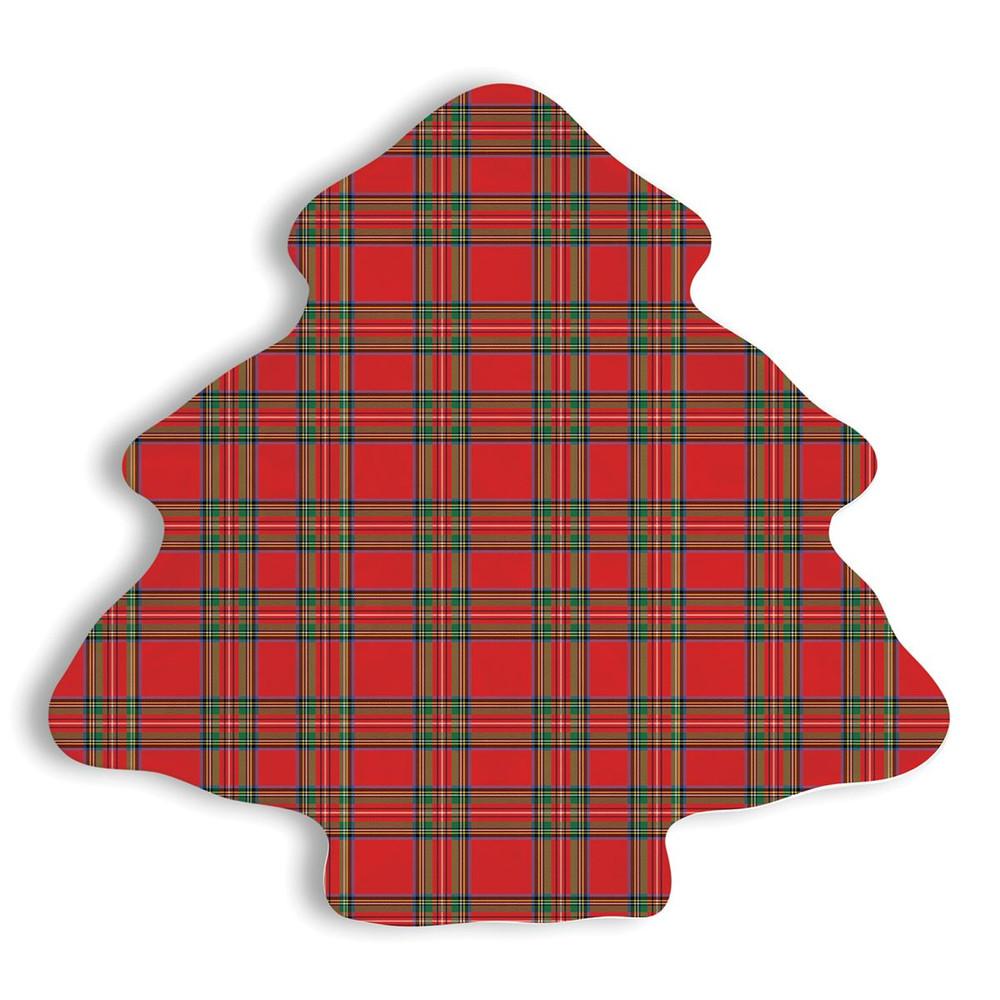 Tartan Melamine Serveware Christmas Tree Plate