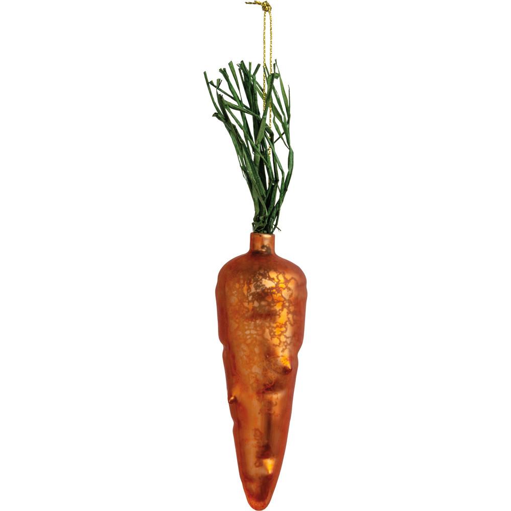 Glass Ornament - Carrot