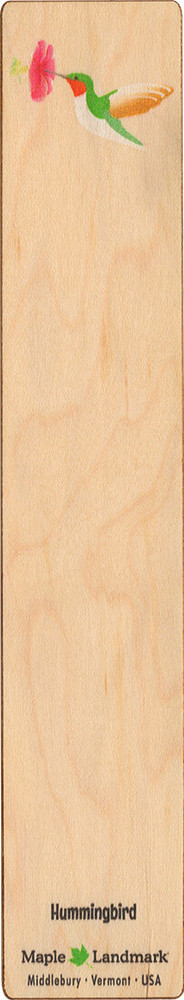 Hummingbird Wooden Bookmark