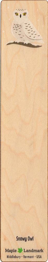 Snowy Owl Wooden Bookmark