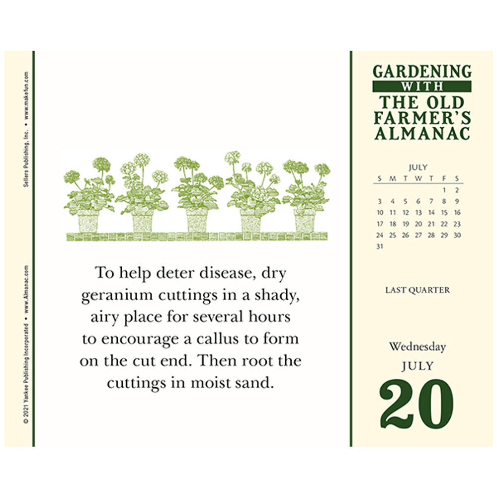 2022 Old Farmer's Almanac Gardening Daily Calendar