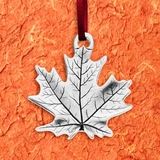 Maple Leaf Pewter Ornament