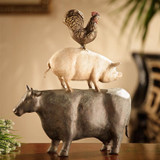 American Folk Art Trio - Chicken Pig Cow