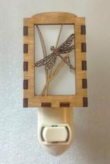 Dragonfly wooden night light