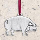 Pig Pewter Ornament