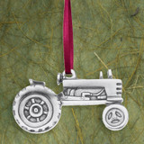 Tractor Pewter Ornament