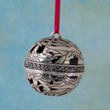 Angel Rejoicing Globe Pewter Ornament