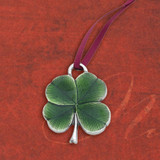 Clover Pewter Ornament