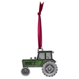 Green Tractor Pewter Ornament