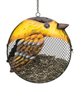 Fat Bird Seed Feeder - Goldfinch