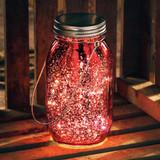 Lighted Red Mercury Lantern