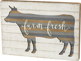 Slat Box Sign - Farm Fresh