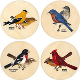 Peterson's Songbird Wooden Coasters