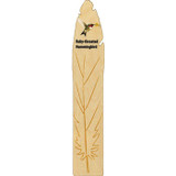 Ruby-throated Hummingbird Wooden Feather Bookmark