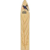 Eastern Bluebird Wooden Feather Bookmark