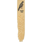 Peregrine Falcon Wooden Wing Bookmark
