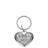 Florentine Heart Pewter Keyring