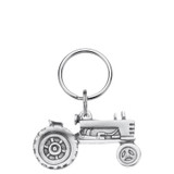 Tractor Pewter Keyring
