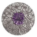 Purple Pansy Purse Mirror