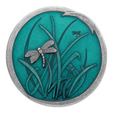 Teal Dragonfly Purse Mirror