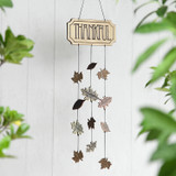 Thankful Wind Chime with Leaves