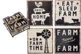 Stone Coaster Set - Farm Sweet Farm