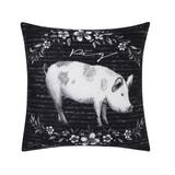 Rustic Farm Pig Pillow
