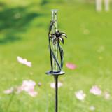 Flower and Bee Rain Watcher Garden Stake