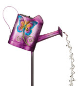 Watering Can Solar Stake - Butterfly