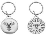 Sun & Full Moon Pewter Key Ring