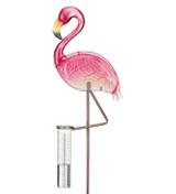 Rain Gauge Stake - Flamingo