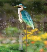 Rain Gauge Stake - Heron