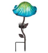 Lava Mushroom Solar Stake - Blue