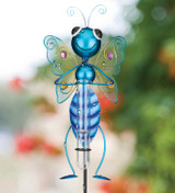 Bug Rain Gauge Stake - Butterfly Blue