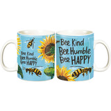 Jumbo Mug - Bee Kind Bee Humble Bee Happy