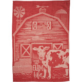 Dish Towel - Living The Farm Life