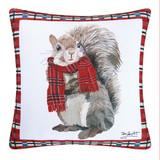 Plaid Squirrel Pillow