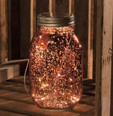 Lighted Pink Mercury Lantern