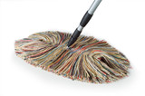 Big Wooly Dust Mop with Telescoping Handle