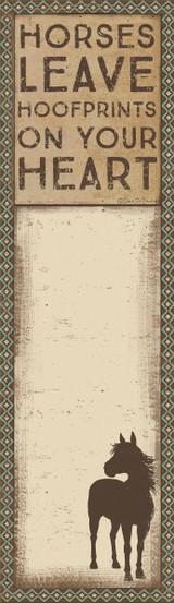 List Notepad - Hoofprints On Your Heart