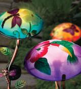 Solar Mushroom Stake - Hummingbird