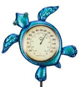 Thermometer Solar Stake - Sea Turtle