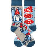 Socks - Gnomes and Mushrooms