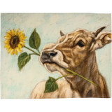 Dish Towel Cow Floral