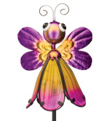 Flower Bug Solar Stake - Butterfly Yellow