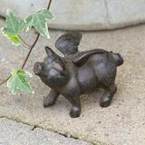 Decorative garden decor, iron pig