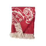 Woven, red, bandana design, throw