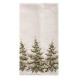 Christmas dish towel embellished with Christmas trees