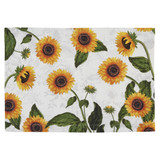 Cotton placemat with sunflower pattern